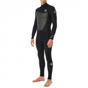 Billabong Foil 3/2 Flatlock Back Zip Wetsuit - Black
