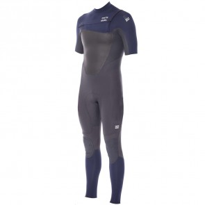 Billabong Foil 2mm Short Sleeve Chest Zip Wetsuit - Ink