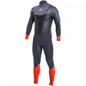Billabong Absolute Comp 3/2 Chest Zip Wetsuit - Orange