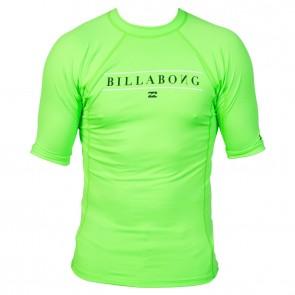 Billabong Wetsuits All Day Short Sleeve Rash Guard - Neon Green