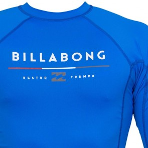 Billabong Wetsuits All Day Short Sleeve Rash Guard - Royal