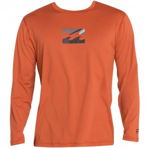 Billabong Wetsuits Chronicle Long Sleeve Rash Guard - Dark Red