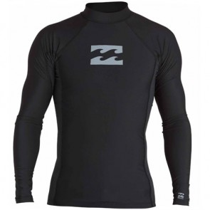Billabong Wetsuits All Day Wave Performance Long Sleeve Rash Guard - Black