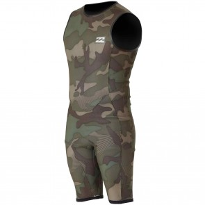 Billabong Revolution Tri-Bong Reversible 2mm Sleeveless Spring Suit - Camo