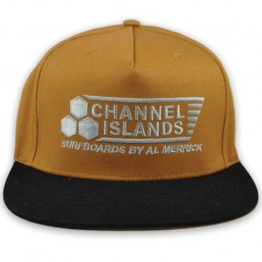 Channel Islands Black Flag Snapback Hat - Khaki