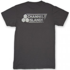 Channel Islands Stamped Flag T-Shirt - Black Washed