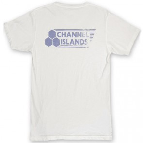 Channel Islands Stamped Flag T-Shirt - Bone White