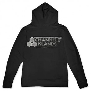 Channel Islands Stamped Flag Hoodie - Black Washed