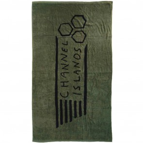 Channel Islands Flag Beach Towel - Military Green