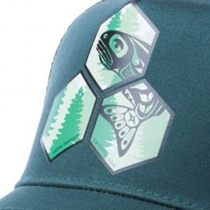 Channel Islands Salmon Hex Trucker Hat - Forest Green