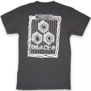 Channel Islands Hand Drawn T-Shirt - Black Washed