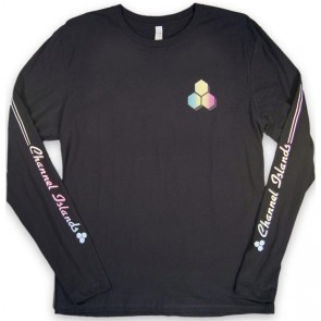 Channel Islands Rail Sleeve Long Sleeve T-Shirt - Black Washed