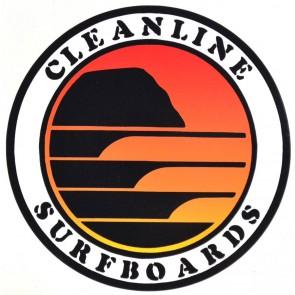 Cleanline Surf Sunset Circle Sticker