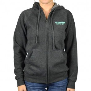 Cleanline Women's Happy Day Seaside Zip Hoodie - Carbon
