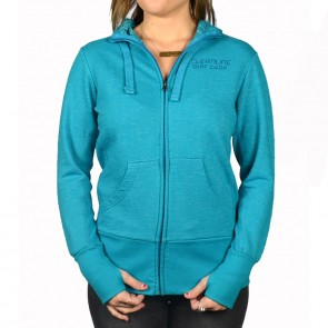 Cleanline Women's Golden Horizon Cannon Beach Zip Hoodie - Azul