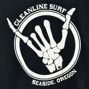 Cleanline Shaka Bones T-Shirt - Black