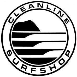 Cleanline Surf Big Rock Circle Sticker - Black