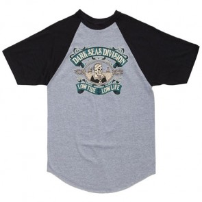 Dark Seas Midshipman Jersey T-Shirt - Heather Grey/Black