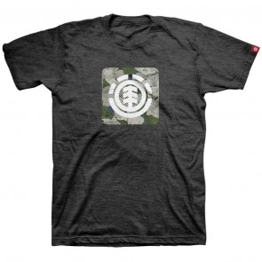 Element Youth Icon Fill T-Shirt - Tar Heather