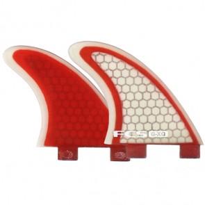 FCS Fins GXQ Side Bites - Red/Clear