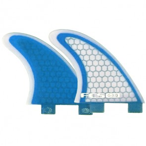 FCS Fins GXQ Side Bites - Blue/Clear
