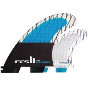 FCS II Fins Performer PCC Large Quad SUP Fin Set