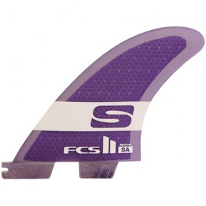 FCS II Fins SA PC - Purple/Clear