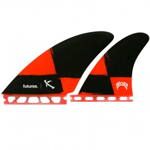 Futures Fins Seaworthy Quad - Red/Black