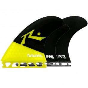 Futures Fins Rusty Tri-Quad - Yellow/Black
