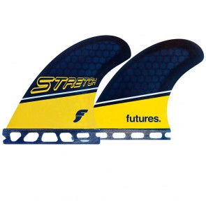 Futures Fins Stretch Quad - Navy/Orange