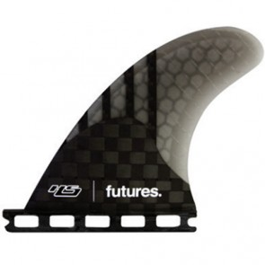 Futures Fins HS 4.20 Generation Quad Rears - Carbon/Smoke
