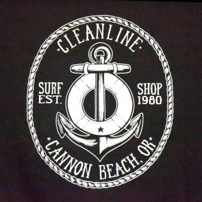 Cleanline Anchor Cannon Beach Hoodie - Black