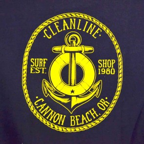 Cleanline Anchor Cannon Beach Hoodie - Navy