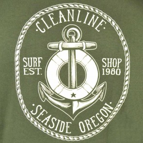 Cleanline Anchor Seaside Hoodie - Olive