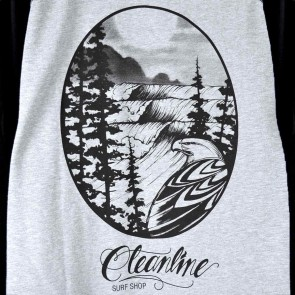 Cleanline Eagle Raglan Lightweight Hoodie - Heather Grey/Black