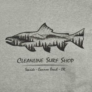 Cleanline Salmon Hoodie - Gunmetal Heather