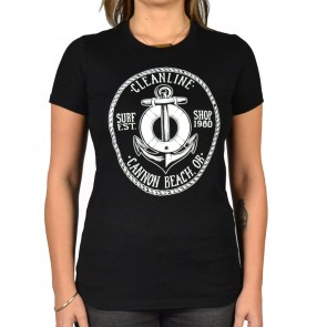 Cleanline Women's Anchor Cannon Beach Scoop Top - Black