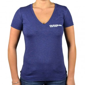 Cleanline Women's New Rock V-Neck T-Shirt - Navy