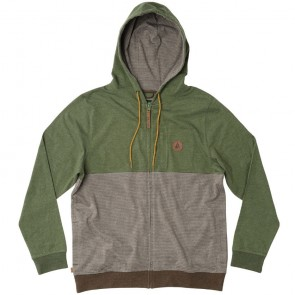 HippyTree Longfellow Zip-Up Hoodie - Heather Army
