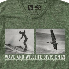 HippyTree Glide T-Shirt - Heather Army