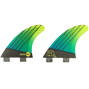 Kinetik Racing Fins Quad FCS Trailers - Neon Aqua Green