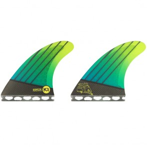 Kinetik Racing Fins Quad Futures Trailers - Neon Aqua Green