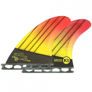 Kinetik Racing Fins Quad Futures Trailers - Neon Yellow Orange