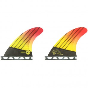 Kinetik Racing Fins Quad Futures Trailers - Neon Yellow Orange
