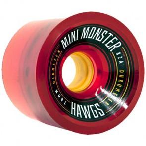 Landyachtz 70mm Mini Monster Hawgs Wheels - Red