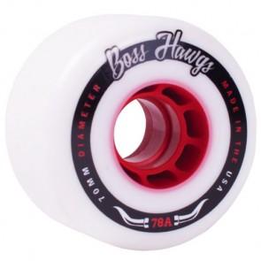 Landyachtz Boss Hawgs 70mm Wheels - White/Red