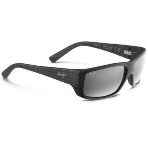 Maui Jim Wassup Sunglasses - Matte Black/Wood Grain/Neutral Grey