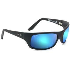 Maui Jim Peahi Sunglasses - Matte Black/Blue Hawaii
