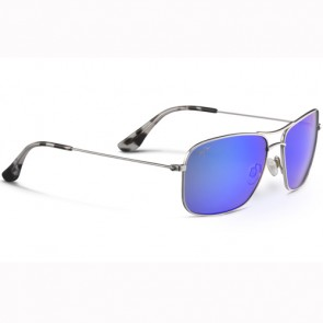 Maui Jim Wiki Wiki Sunglasses - Silver/Blue Hawaii