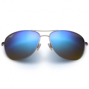 Maui Jim Cliff House Sunglasses - Silver/Blue Hawaii
